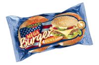 Mega Burger bulka se sezamem 4 ks/300 g