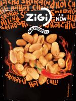 Marinované arašídy s příchutí sriracha chilli omáčky