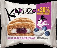 Karuzo světlé s cheesecake-borůvkovou náplní