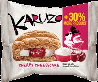 Karuzo světlé s cheesecake-třešňovou náplní