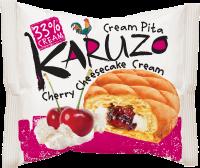 Karuzo s cheesecake-třešňovou náplní