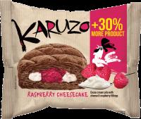 Karuzo kakaové s náplní mascarpone-malina